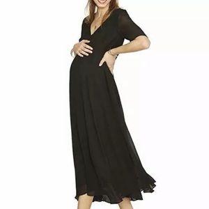 Hatch maternity Maya chiffon maxi dress